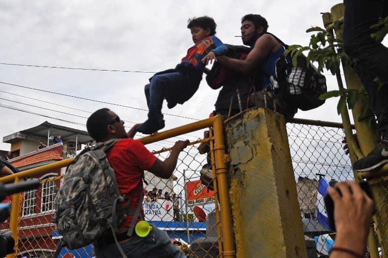 Galería de la caravana migrante en la frontera sur de México