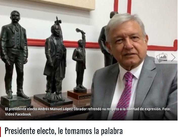 """""""Rechazamos el vituperio, indigno de un hombre de Estado"""": Revista Proceso a AMLO"""