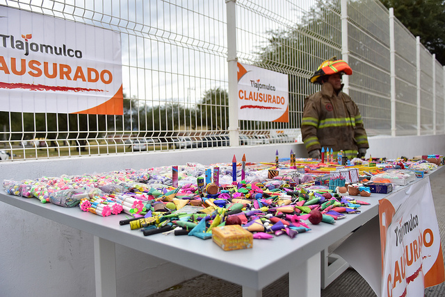 Decomisan 90 kilos de pirotecnia en Tlajomulco