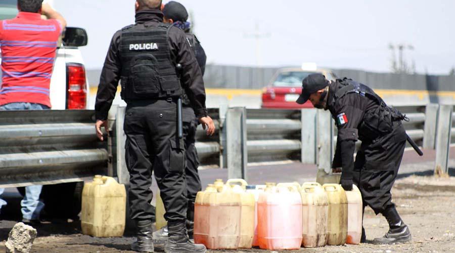 Recuperan gasolina y camioneta robada en Ocotlán, Jalisco