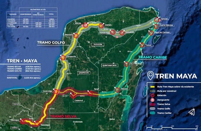 Comienza la consulta del tren maya, informa López Obrador