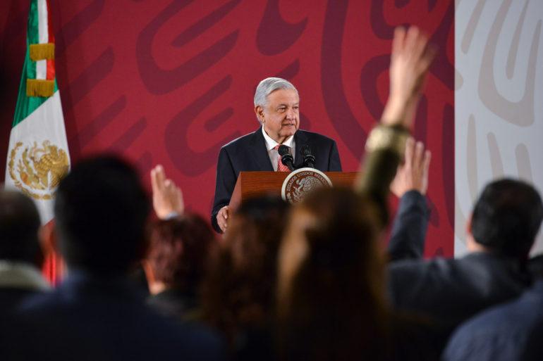 Descarta López Obrador recibir a Sicilia en Palacio Nacional