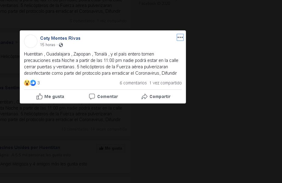 ¿Qué noticias falsas circulan sobre el Covid-19 en Jalisco?