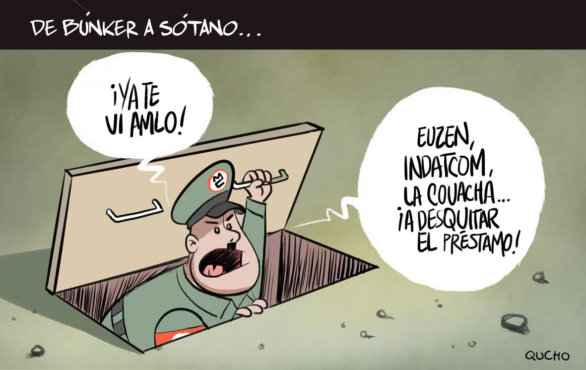 ENRIQUE ALFARO-AMLO-QUCHO-CARTÓN-CARICATURA-PARTIDERO-MANIFESTACIÓN