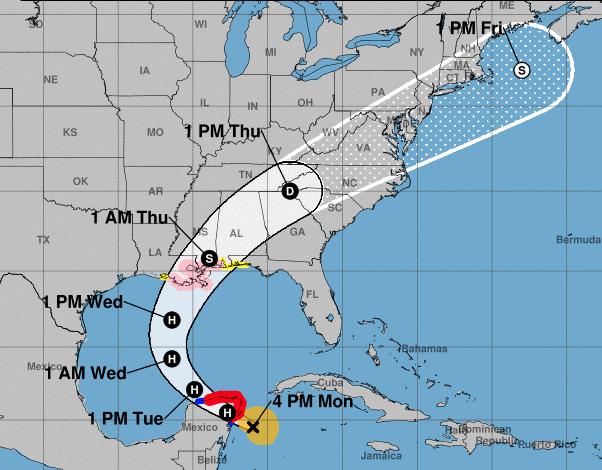 Arrecia huracán Zeta y avanza hacia la costa sur de México