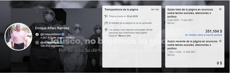 gasto-enrique alfaro ramírez-facebook-partidero