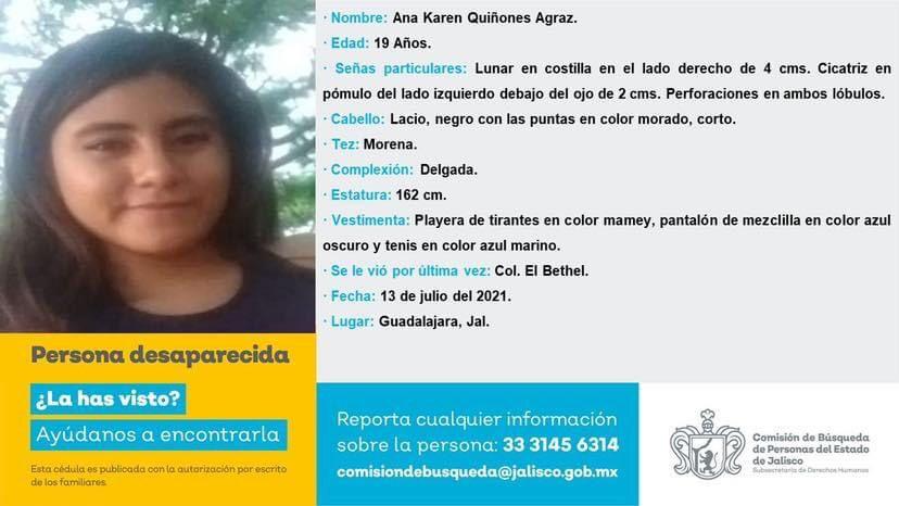 Exige UdeG localizar a estudiante desaparecida