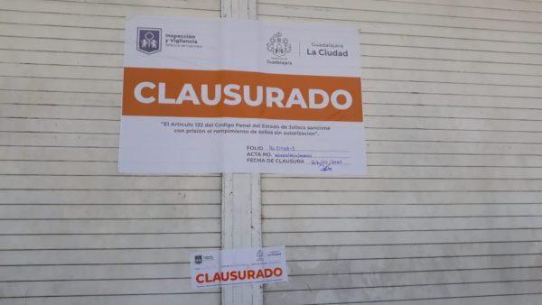 Clausura Guadalajara establecimientos por incumplir protocolos Covid